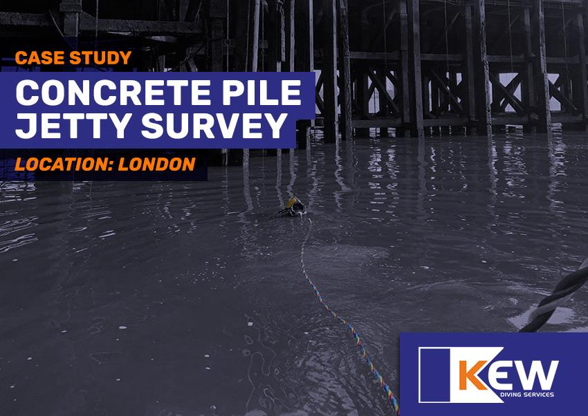 concrete pile jetty survey london